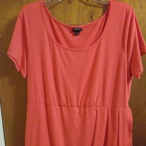 Torrid Pink Jersey Tulip Dress